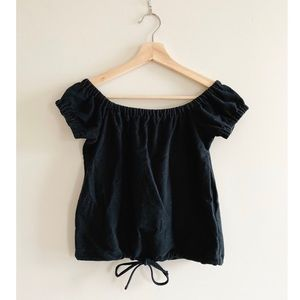 🎉 3 for $15 Madewell Off The Shoulder Tie Top